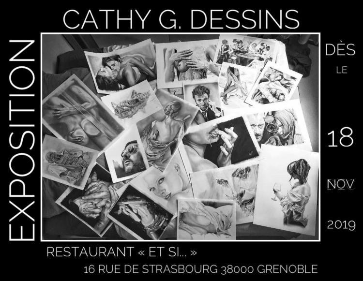 Cathy G dessins exposition et si grenoble restaurant